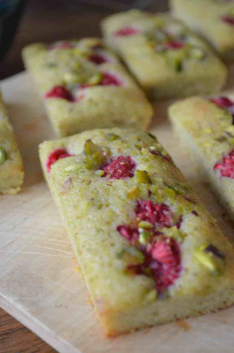 pistachio & raspberry financiers