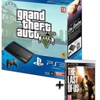 PlayStation 3  500 GB + Gran Theft Auto V + The Last Of Us