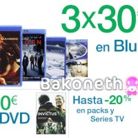 3x30€ en Blu-ray 6x30€ en DVD y 20% dto. en Packs y Series TV