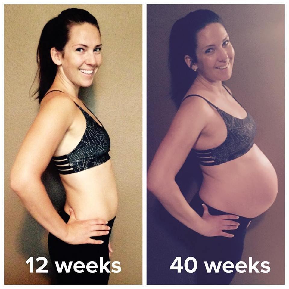 Abby Rose 12 weeks v 40 weeks