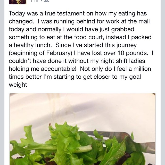 A co-worker that is rocking her healthier lifestyle post 10 day Herbal Cleanse! So proud :)