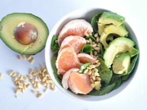 vegan grapefruit avocado salad