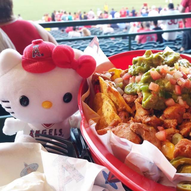 Enjoying HelloKitty night at angels Stadium Lets go Angels baseballhellip