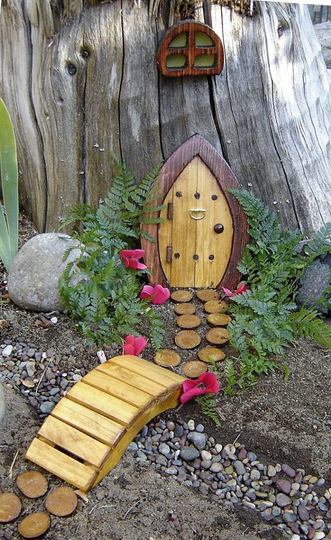 Voguish Gnome Door Magical Fairy Garden Ideas You Your Kids Will Love Balcony Gnome Garden Village Miniature Garden garden Gnome Garden Village