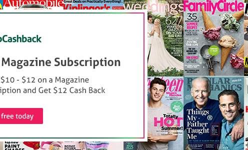 TopCashback free magazine subscription