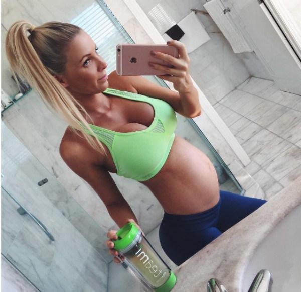 Hannah Polites enfrenta críticas por ter engordado pouco durante a gravidez (Foto: Reprodução/Instagram)
