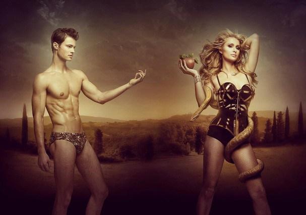 Paris Hilton e Matthew Vande Vegte pra Adon Magazine (Foto: Reprodução/Instagram)