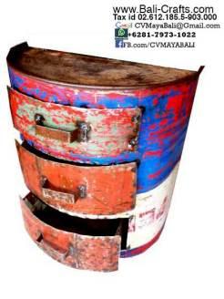 Oildrm1-12 Repurposed Oil Drum Furniture Bali Indonesia