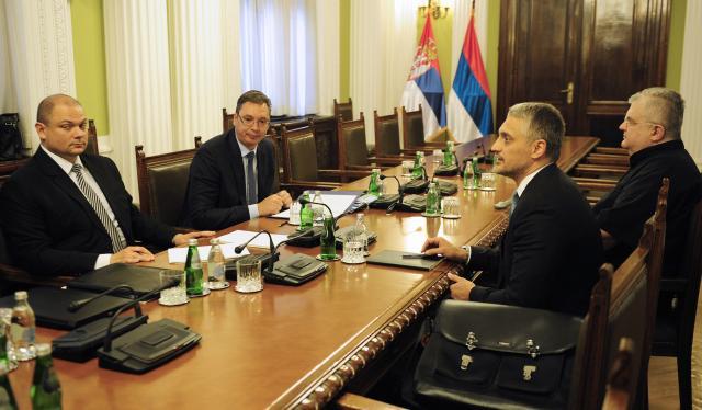 Aleksandar Vučić razgovarao sa Jovanovićem i Čankom