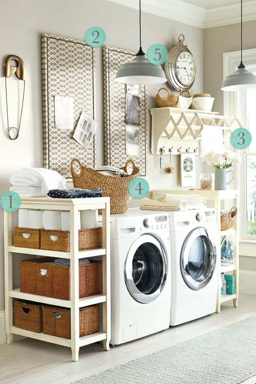 Soulful Bringing Style Into Laundry Room Laundry Room Decorating Ideas How To Decorate Bedroom Shelves Designs Room Shelves Ideas Tips