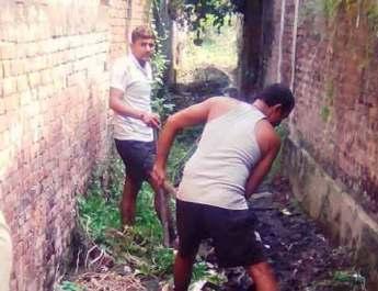 कर्णछपरा गांव में दीपावली पर सफाई के नए आयाम