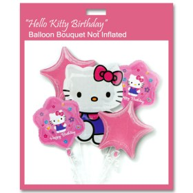Hello Kitty Birthday Balloon Bouquet Not Inflated from Balloon Shop NYC