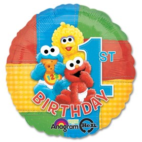 Sesame Street Party Happy Birthday Mylar Balloon from Balloon Shop NYC