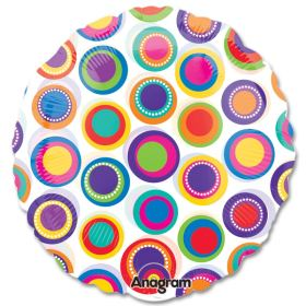 Colorful Circles Clear Mylar 18 inch Balloon from Balloons Shop NYC