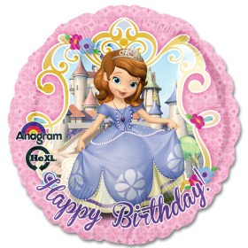 Sofia the First Happy Birthday Mylar Balloon from Balloon Shop NYC