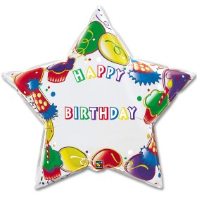 Happy Birthday Giant Star Personalized Maicrofoil Balloon from Balloon Shop NYC