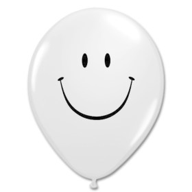 Smile Face Diamond Clear Latex 12 inch Party Balloon from Balloon Shop NYC