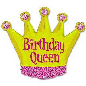 Birthday Queen Party Mylar Balloon 36 Inch from Balloon Shop NYC