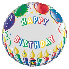 Happy Birthday Candles Personalized Microfoil Balloon from Balloon Shop NYC