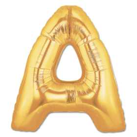 Jumbo Foil Gold 40 inch Letter A Balloon from Balloons Shop NYC
