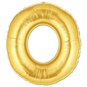 Jumbo Foil Gold 40 inch Letter O Balloon from Balloons Shop NYC