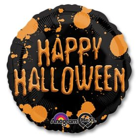 Halloween Splatter 17 inch Mylar Balloon from Balloons Shop NYC