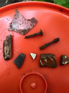 Finds from the first day, 2015 May 9.