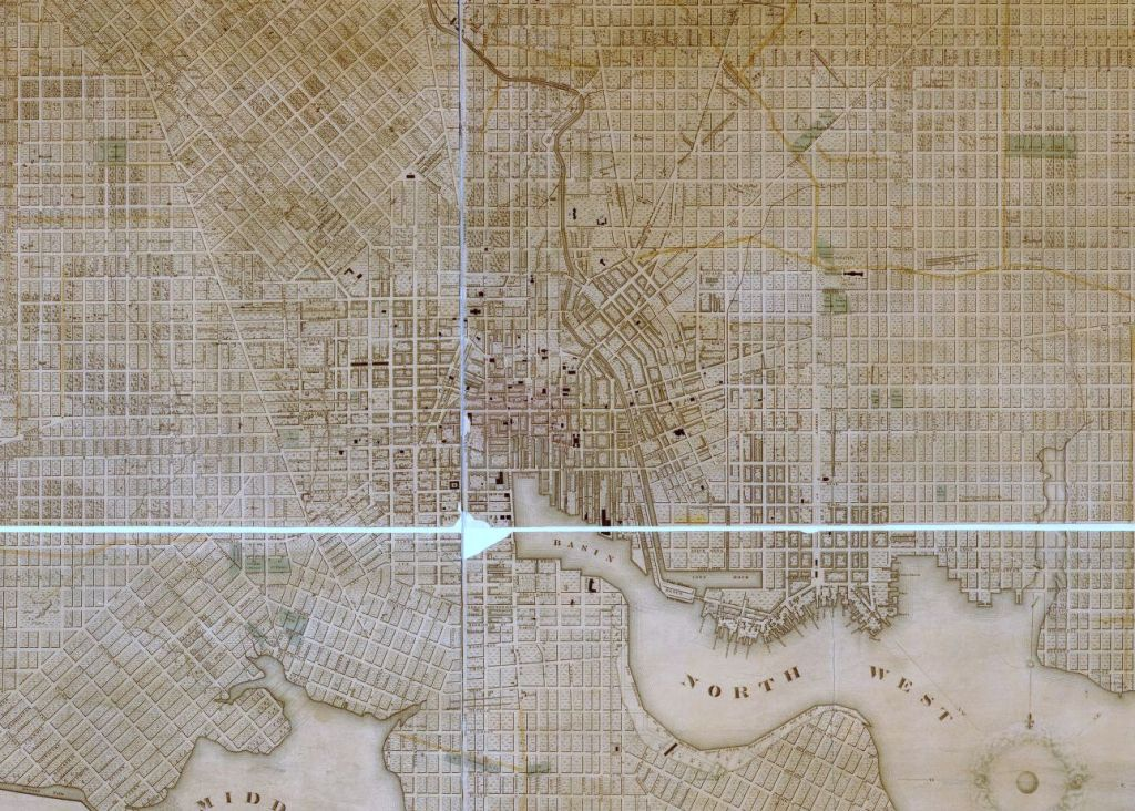 Poppleton Plan, 1822. Library of Congress, g3844b ct001133>/a>.