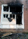 Fire damage, Eastern Female High School. Photograph by Johns Hopkins, 2015 July 11.