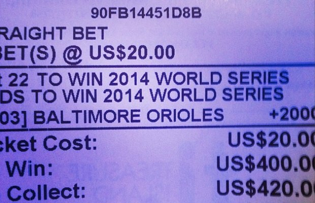 Josh's bet on Orioles to win the 2014 World Series