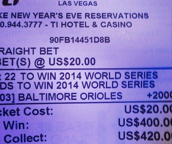 $20 bet on Orioles to win 2014 World Series could win you $400