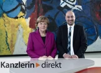 Foto (Universität Paderborn): Dr.-Ing. Roman Dumitrescu hat sich mit Angela Merkel über die digitale Revolution unterhalten
