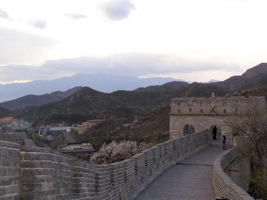 Die Große Mauer bei Badaling ohne Menschen