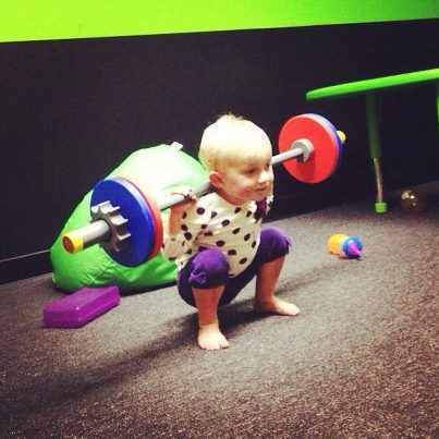 Squat like a baby