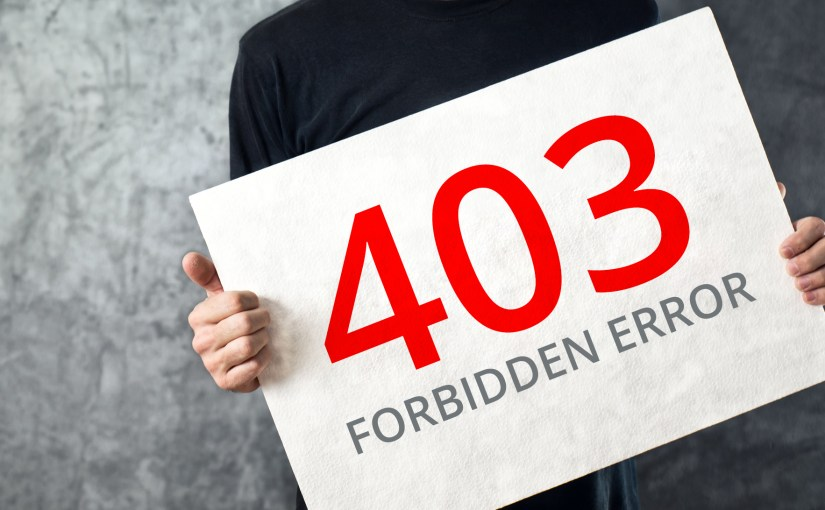 "403 Access denied ""Error Nightmare"""