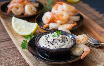 Spicy Shrimp and Creamy Tarator Dip / http://bamskitchen.com