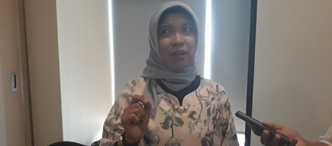 Neneng Sumiati, Manager Baggage and ULD Services PT. JAS - jakarta.tribunnews.com