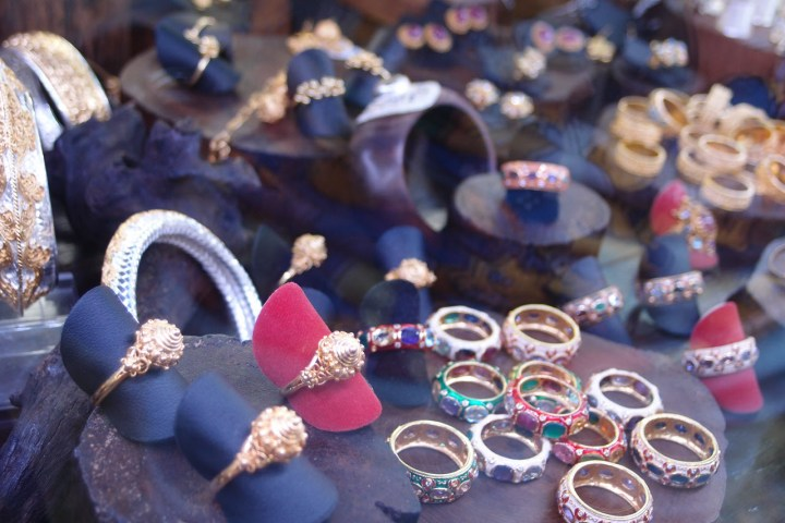Delicate handicraft jewelry