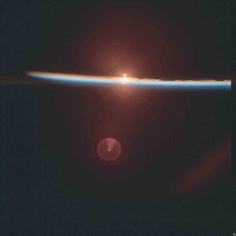sunrise on space