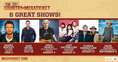 2017 Country Megaticket Tickets Includes All Performances