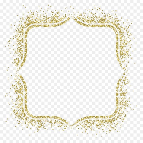 Medium Of Gold Glitter Border
