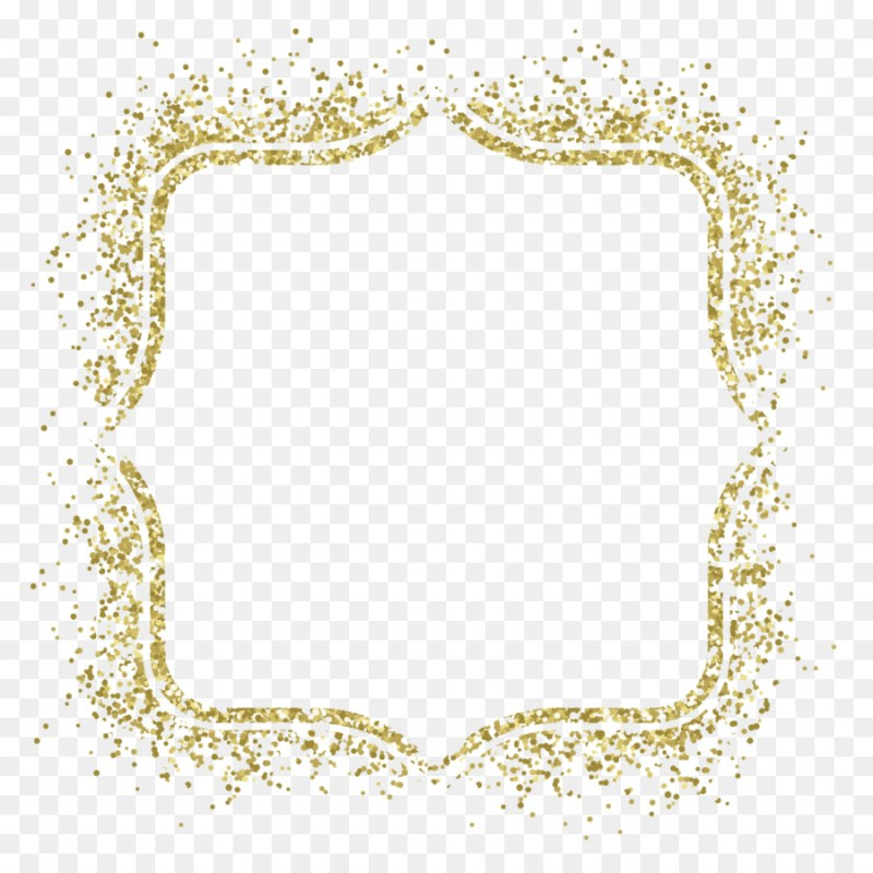 Large Of Gold Glitter Border