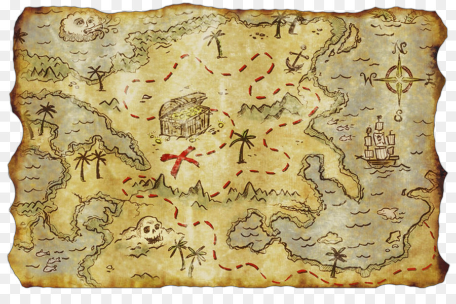 Treasure map Buried treasure Piracy   pirate map png download   1500     Treasure map Buried treasure Piracy   pirate map