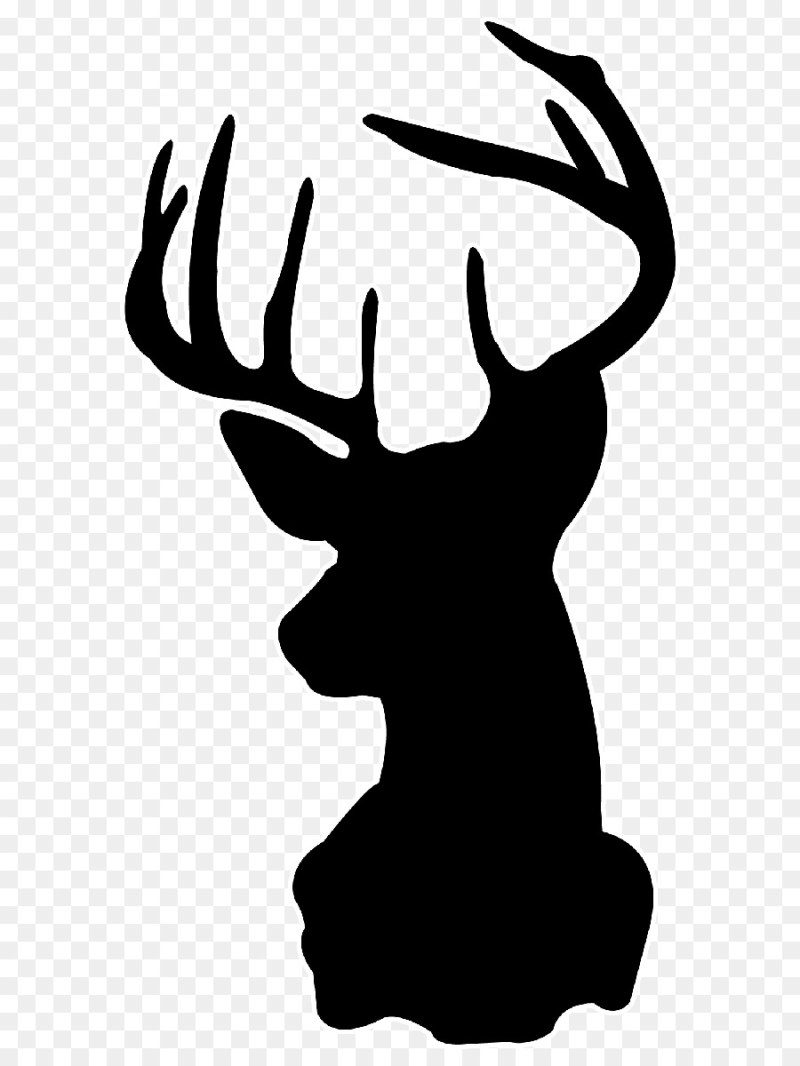 Large Of Reindeer Head Silhouette