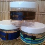 Mens hand decorated containers for their products