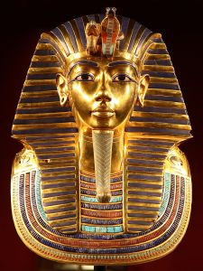 Tutankhamen's death mask - imagine how heavy that must have been to wear. Oh right, he was dead.