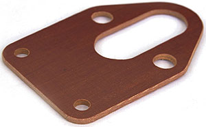 Phenolic fuel pump plate
