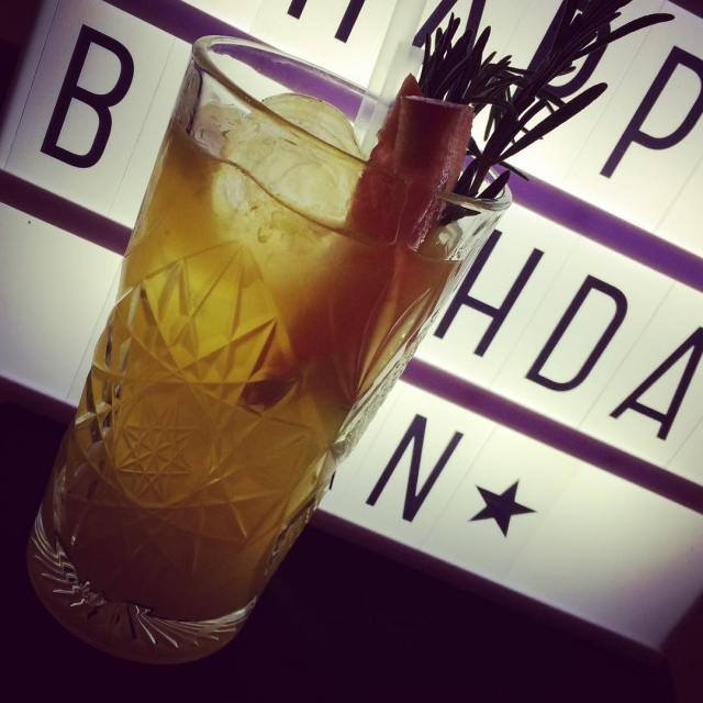Sip and enjoy our gingercooler! Tanqueray GinLimeRumsyrupCitrus Juice Fever Treehellip