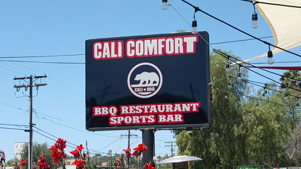 BBQ Rev Cali Comfort Sign 2