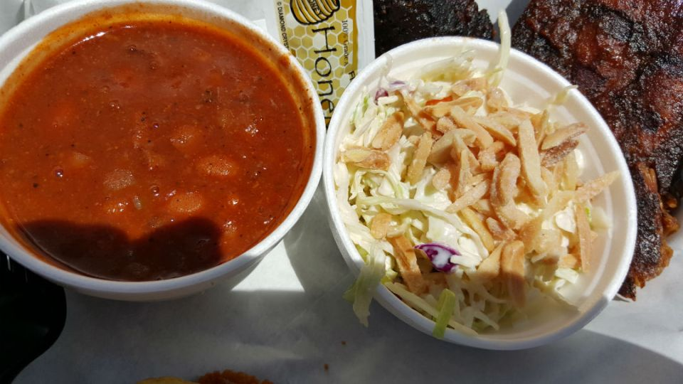 Beans and slaw